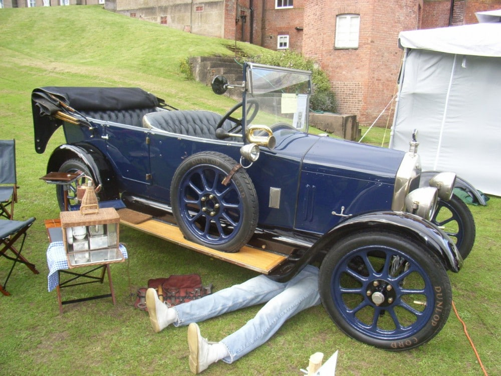 1923 blue Wolseley E3 Ten, 4 Seat Tourer