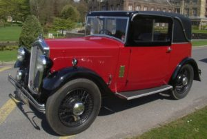 1932 red & black Wolseley Doctor's Coupe