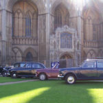 In front of Peterborough Cathedral