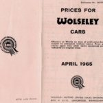 Wolseley Price Lists 1965 & 1966