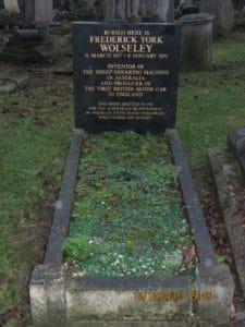 Wolseley's grave, December 2015 - courtesy A. Simmonds