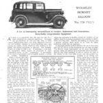 "Hornet Roadtest - ""Autocar"" Feb 1933"