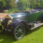 1921 green Wolseley Fifteen