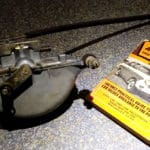 Trici vacuum wiper motor which parks the wipers and stops the air flow when the control valve is turned