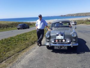 Wolseley 1500 Mk1 with Newgale Beach in the background