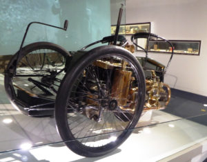 Wolseley TriCar 1896 owned by the British Motor Museum at Gaydon