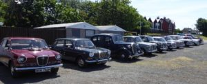 A superb line up of Wolseley's on parade