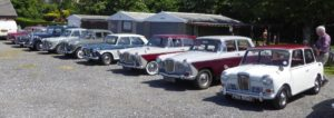 Line up of Wolseley's ready for inspection