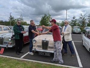 Wolseley 1500 Mk2 loan car handover