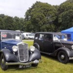 Two Wolseley New Fourteens at the MVA rally at Thoresby in 2021