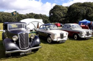 Wolseley New Fourteen and 2 1500's at the MVA rally at Thoresby in 2021